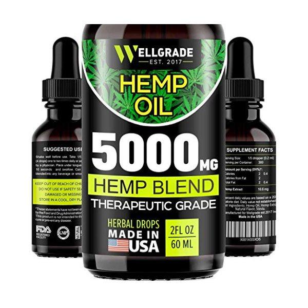 Premium Hemp Oil Hemp Seed CBD Oil 60ml WELLGRADE