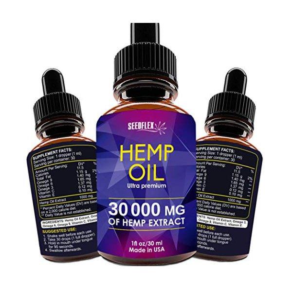 Hemp Seed CBD Oil 30ml NUTRAZO Pure Hemp Oil