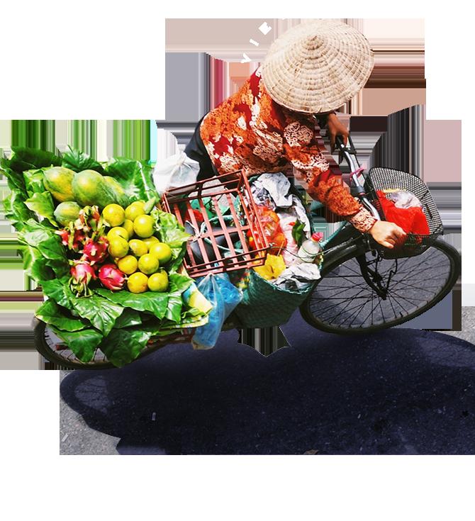 베트남 자전거탄 여자